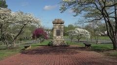 Fredericksburg Virginia Religious Liberty Monument zoom HD 003 Stock Footage