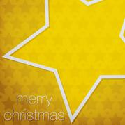 """Cut out """"Merry Christmas"""" star card in vector format. Stock Illustration"""