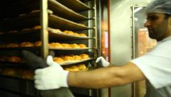 Industrial oven for baking bread. Stock Footage