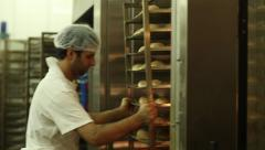 Oven for baking breads. - stock footage