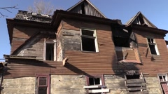 Abandoned houses Jews in Brest Stock Footage