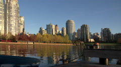 Yaletown Dock, Seawall Morning, Vancouver 4K Stock Footage