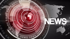 Abstract circle round news background 4K colorless-red Stock Footage