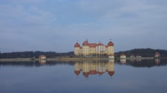 Moritzburg palace in Saxony Stock Footage