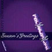 Season's Greetings star cracker card in vector format. - stock illustration