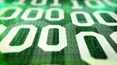 Closeup of Binary code. Stock Footage