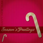 """Season's Greetings"" candy cane card in vector format. - stock illustration"