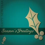 "Cut out ""Season's Greetings"" tree card in vector format. Stock Illustration"