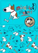 Mischief maker puppy dog woof - stock illustration