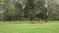 Jamestown Virgina historic colonial town ruins park tourists HD Stock Footage