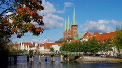 Luebeck in Germany - stock footage