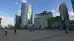 Quatre Temps and other skyscrapers in La Défense, Paris Stock Footage