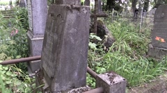 Polish graves in the old cemetery Stock Footage