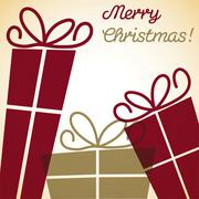 Christmas present overlay card in vector format Stock Illustration