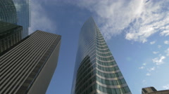 The EDF tower in La Défense, Paris Stock Footage