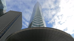 EDF tower in La Défense, Paris Stock Footage