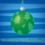 Funky German Christmas decoration card in vector format. - stock illustration