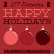 Retro typographic bauble card in vector format Stock Illustration