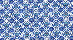 Turkish tiles found in Istanbul Turkey - stock footage