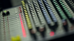 Professional audio mixing console Stock Footage