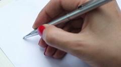"Female hand writing ""My dear friend..."" Stock Footage"