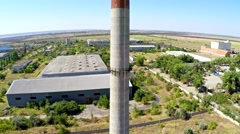 Aerial view on a chimney Stock Footage