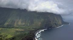 Big Island Hawaii Weather Time Lapse, Waipio Mountains and Valley, Kohala Coast Stock Footage