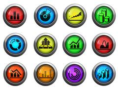 Information graphic icons set - stock illustration