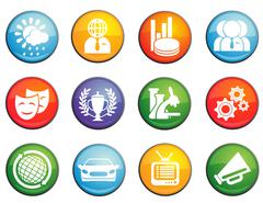 News icons set - stock illustration