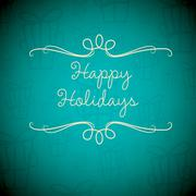 Merry Christmas card in vector format. - stock illustration