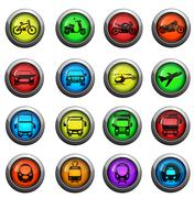 Transport mode icons set Stock Illustration
