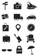 Icons for Travel Industry - stock illustration