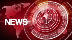 Abstract circle round news background 4K red Stock Footage