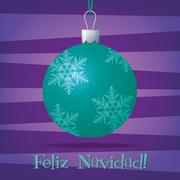 Funky Spanish Christmas decoration card in vector format. - stock illustration