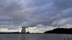 Nuclear power plant in Germany Stock Footage