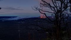 Tracking Night to Day Time Lapse, Kilauea Volcano, Big Island, Hawaii Stock Footage