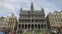 The beautiful facade of Brussels City Museum Stock Footage