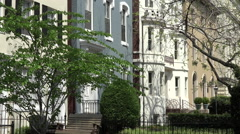 Luxury colorful row houses Capitol Hill Washington DC HD 038 Stock Footage