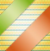 Background with ribbons. - stock illustration