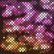 Vector illustration with mosaic. Stock Illustration