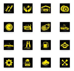Stock Illustration of Auto Service Icons