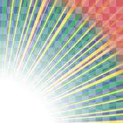 Transparent Colorful Rays. Burst of Star Stock Illustration