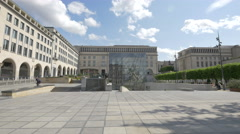 Square - Brussels Meeting Centre in Brussels Stock Footage