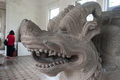 Cham Sculpture Dragon, Danang, Vietnam Stock Photos