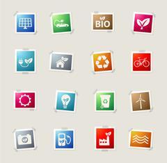 Alternative energy simply icons Stock Illustration