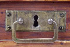Detail of the old and used drawer - stock photo