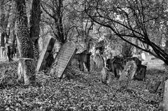 Old Jewish Cemetery Stock Photos