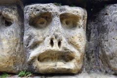Haunted Stone Heads Stock Photos