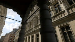 The City Hall of Brussels seen from Everard 'T Serclaes Stock Footage