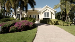 Naples Florida houses track 1 Stock Footage